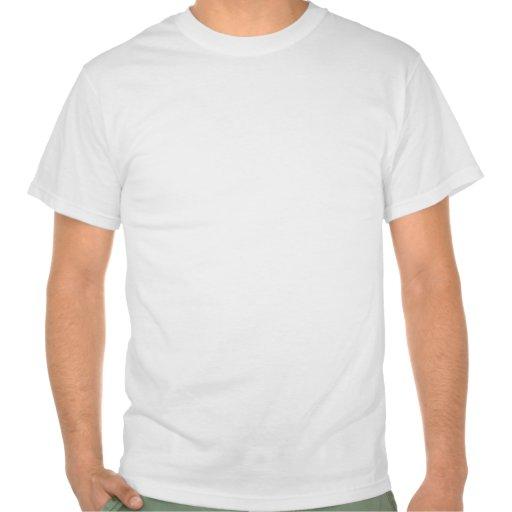 Guarde la calma y el foco en bulbos fluorescentes camiseta