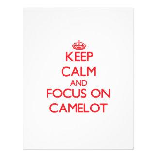 Guarde la calma y el foco en Camelot Tarjetón