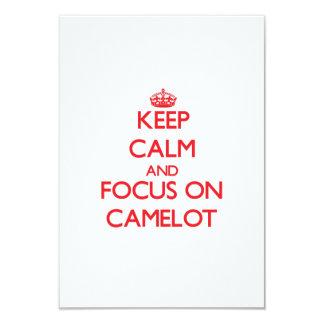 Guarde la calma y el foco en Camelot Comunicados Personalizados