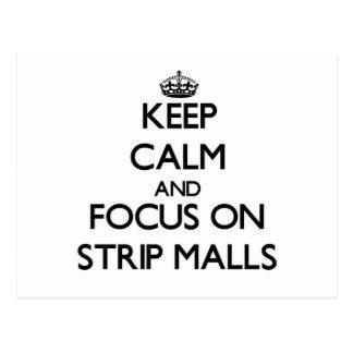 Guarde la calma y el foco en centros comerciales