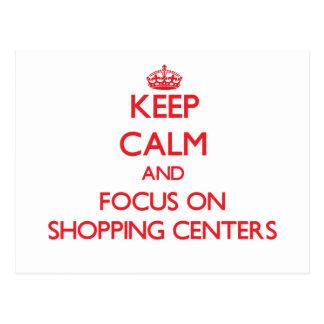 Guarde la calma y el foco en centros comerciales postal