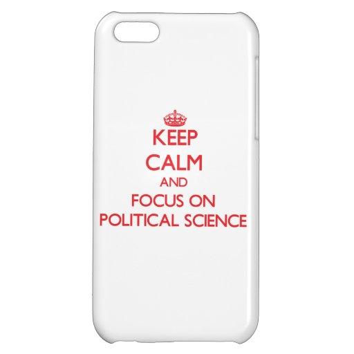 Guarde la calma y el foco en ciencia política