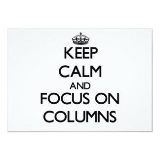 Guarde la calma y el foco en columnas invitacion personalizada
