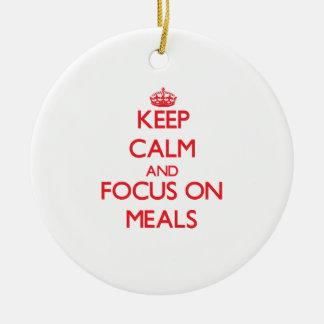 Guarde la calma y el foco en comidas