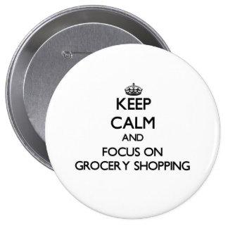 Guarde la calma y el foco en compras pins