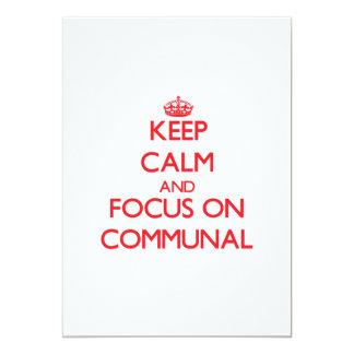Guarde la calma y el foco en comunal invitacion personal