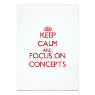 Guarde la calma y el foco en conceptos invitacion personalizada