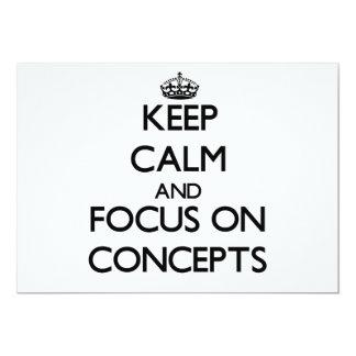 Guarde la calma y el foco en conceptos invitación 12,7 x 17,8 cm