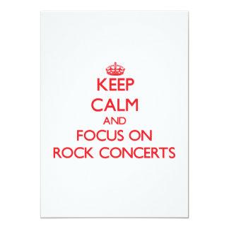 Guarde la calma y el foco en conciertos de rock invitaciones personalizada