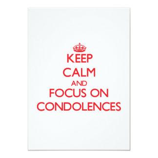 Guarde la calma y el foco en condolencias invitaciones personales