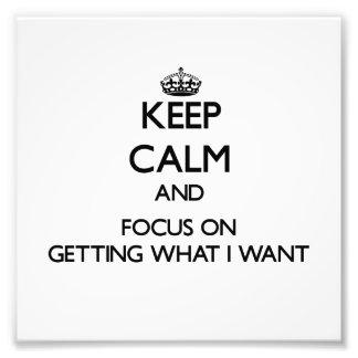 Guarde la calma y el foco en conseguir lo que quie foto