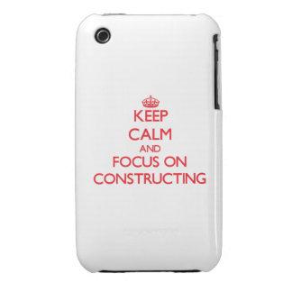 Guarde la calma y el foco en construir Case-Mate iPhone 3 carcasa