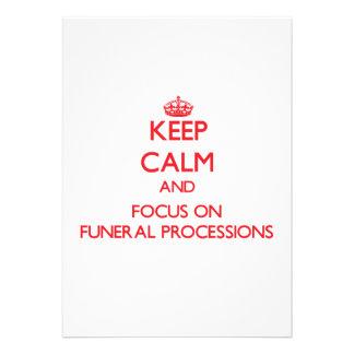 Guarde la calma y el foco en cortejos fúnebres