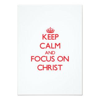 Guarde la calma y el foco en Cristo Invitación 12,7 X 17,8 Cm
