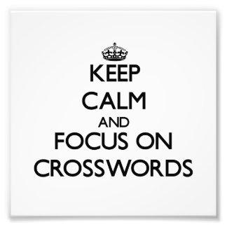 Guarde la calma y el foco en crucigramas