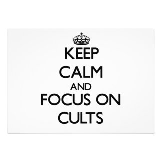 Guarde la calma y el foco en cultos