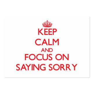 Guarde la calma y el foco en decir triste