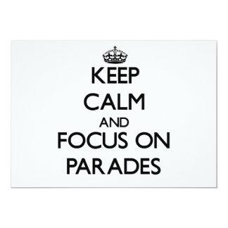 Guarde la calma y el foco en desfiles comunicado personalizado