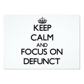 Guarde la calma y el foco en difunto comunicado personal