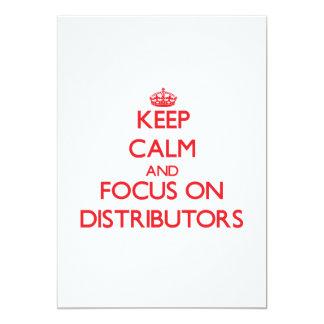 Guarde la calma y el foco en distribuidores comunicado