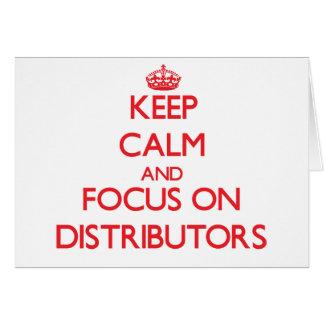 Guarde la calma y el foco en distribuidores
