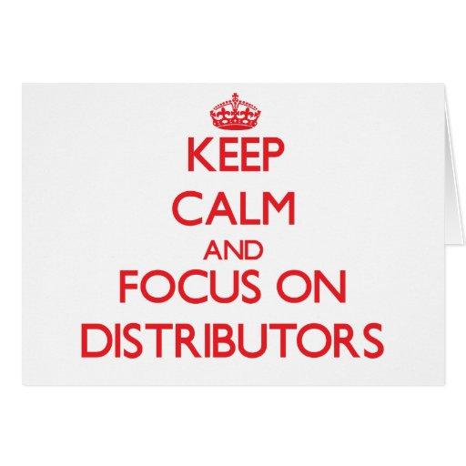Guarde la calma y el foco en distribuidores felicitaciones