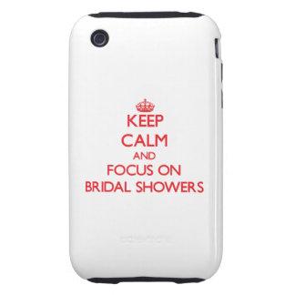 Guarde la calma y el foco en duchas nupciales tough iPhone 3 cárcasa