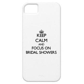 Guarde la calma y el foco en duchas nupciales iPhone 5 cárcasas