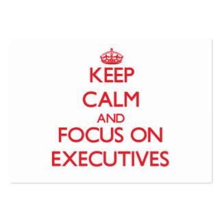 Guarde la calma y el foco en EJECUTIVOS Tarjetas De Visita Grandes