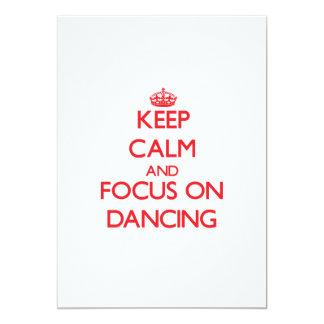 Guarde la calma y el foco en el baile invitacion personalizada