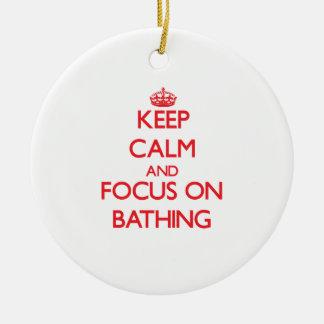 Guarde la calma y el foco en el baño