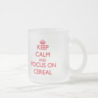 Guarde la calma y el foco en el cereal