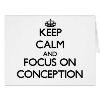Guarde la calma y el foco en el concepto felicitacion