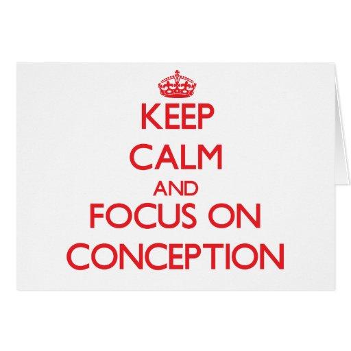 Guarde la calma y el foco en el concepto felicitación