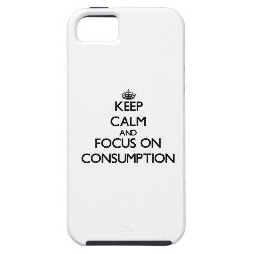 Guarde la calma y el foco en el consumo iPhone 5 protector