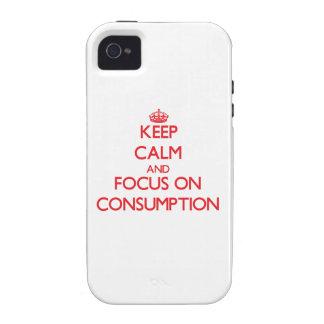 Guarde la calma y el foco en el consumo iPhone 4 fundas