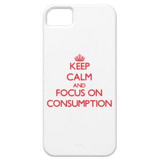 Guarde la calma y el foco en el consumo iPhone 5 funda