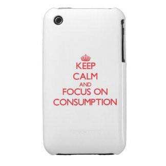 Guarde la calma y el foco en el consumo Case-Mate iPhone 3 funda