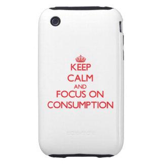 Guarde la calma y el foco en el consumo iPhone 3 tough carcasas