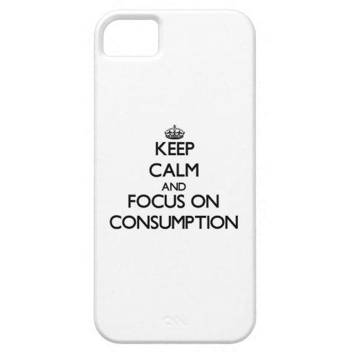 Guarde la calma y el foco en el consumo iPhone 5 Case-Mate cobertura