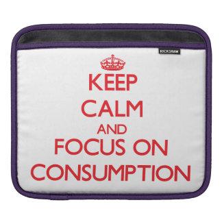 Guarde la calma y el foco en el consumo funda para iPads