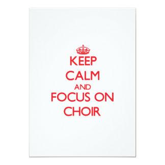 Guarde la calma y el foco en el coro invitacion personalizada