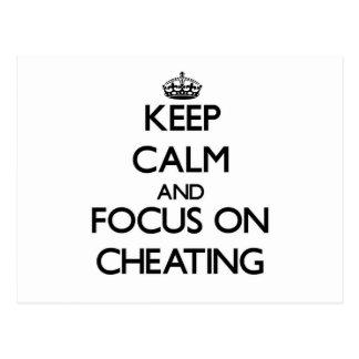 Guarde la calma y el foco en el engaño