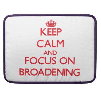 Guarde la calma y el foco en el ensanchamiento funda para macbooks