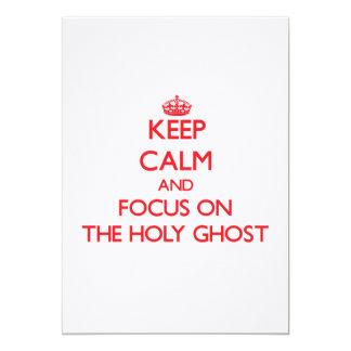 Guarde la calma y el foco en el espíritu santo comunicado personalizado