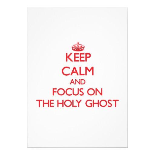 Guarde la calma y el foco en el espíritu santo comunicado personal