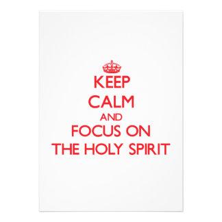Guarde la calma y el foco en el Espíritu Santo Comunicado