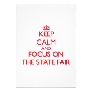 Guarde la calma y el foco en el estado justo invitaciones personales
