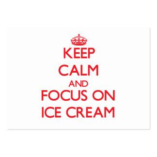 Guarde la calma y el foco en el helado