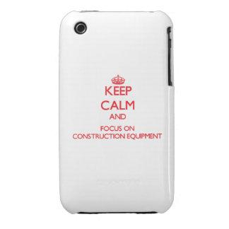 Guarde la calma y el foco en el material de constr Case-Mate iPhone 3 protectores
